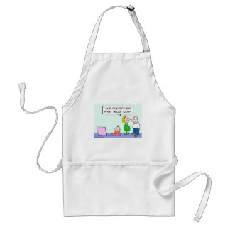 computer baby posted first blog today standard apron