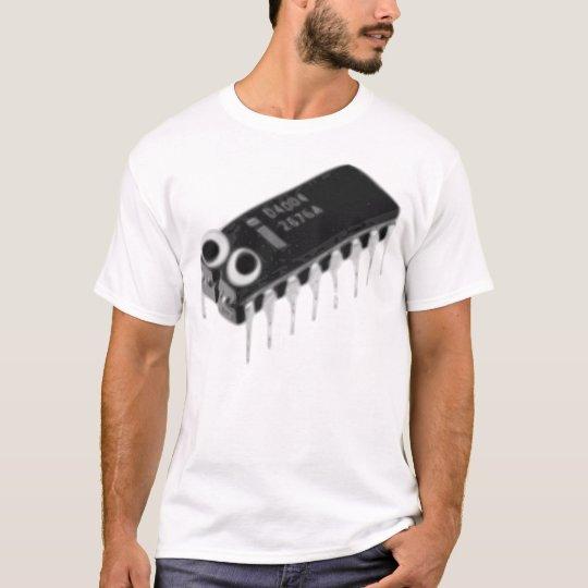 Computer Bug Large B&W T-Shirt