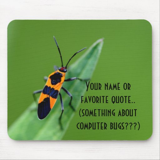 computer bugs mouse pads