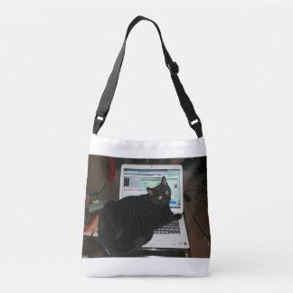 Computer Cat Crossbody Bag
