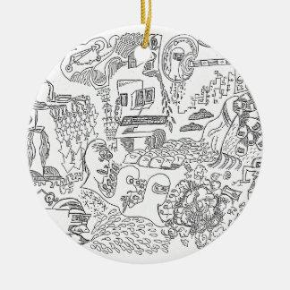 Computer Century Doodle by Sam Backhouse Ornaments