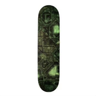 Computer circuit background 21.6 cm skateboard deck
