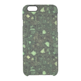 Computer circuit background clear iPhone 6/6S case
