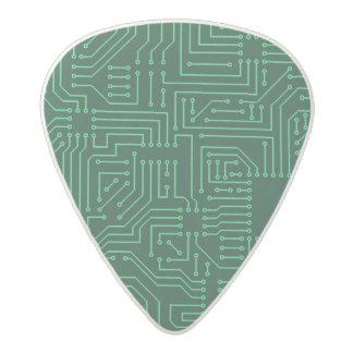 Computer circuit board acetal guitar pick