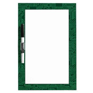 Computer circuit board dry erase board