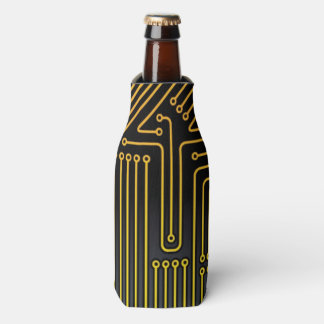 Computer circuit board pattern bottle cooler