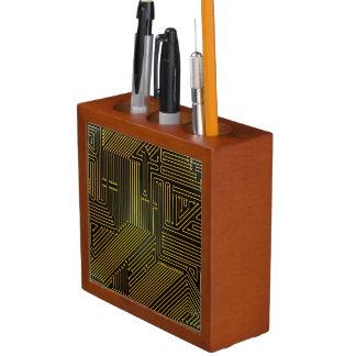 Computer circuit board pattern desk organiser