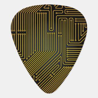 Computer circuit board pattern guitar pick
