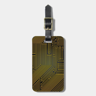 Computer circuit board pattern luggage tag