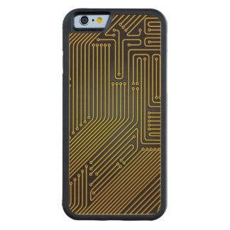 Computer circuit board pattern maple iPhone 6 bumper case