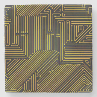Computer circuit board pattern stone coaster