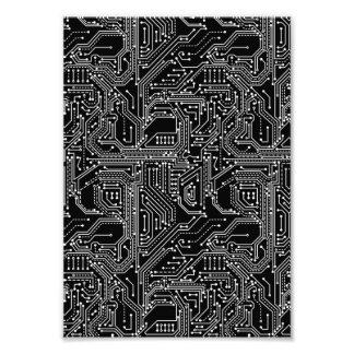 Computer Circuit Board Photo Print