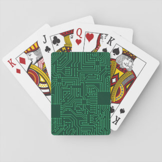 Computer circuit board playing cards