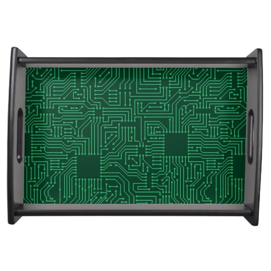 Computer circuit board serving tray