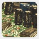 Computer Circuits Square Sticker