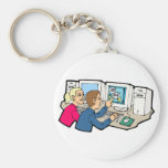 Computer Class Lessons Keychain