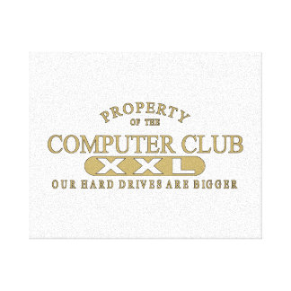 Computer Club Stretched Canvas Print