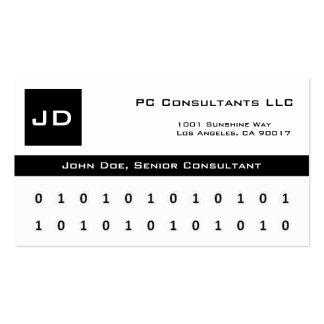 Computer Consultants W/W/B Business Card
