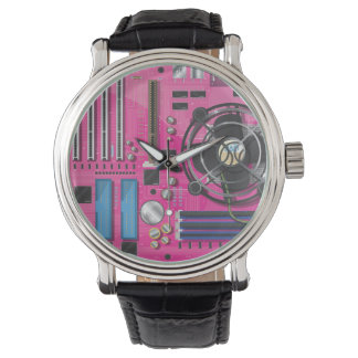 Computer CPU motherboard Wrist Watch