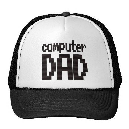 Computer Dad Trucker Cap Hat