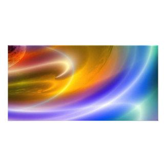 Computer Digital Abstract Custom Photo Card