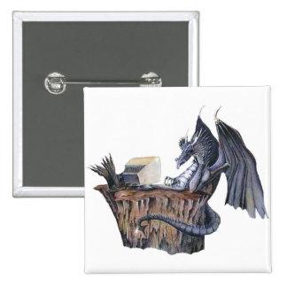 Computer Dragon 15 Cm Square Badge