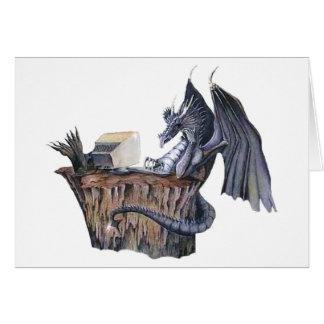 Computer Dragon Greeting Card