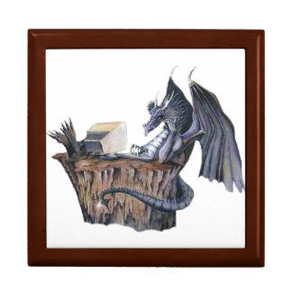 Computer Dragon Large Square Gift Box