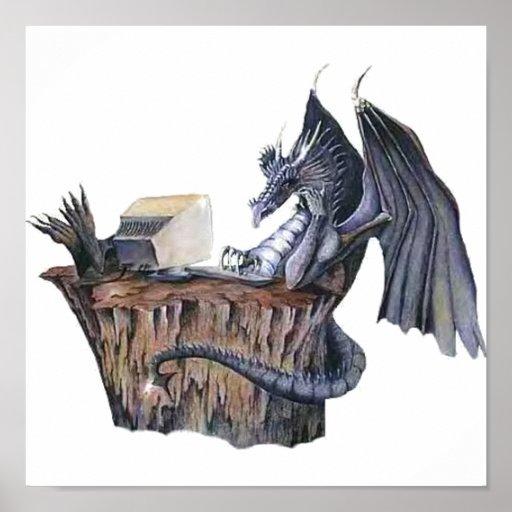Computer Dragon Poster