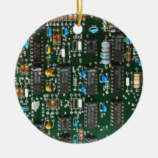 Computer Electronics Printed Circuit Board X2 Christmas Ornament
