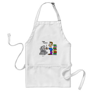 Computer Engineer Cartoon Standard Apron
