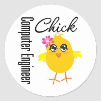 Computer Engineer Chick Stickers