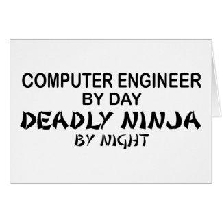 Computer Engineer Deadly Ninja Card