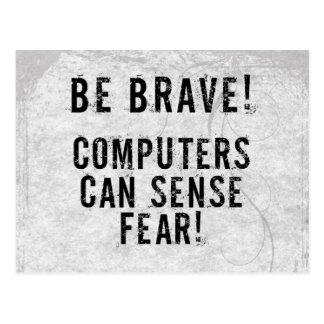 Computer Fear Postcard