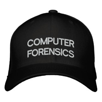 COMPUTER FORENSICS EMBROIDERED HAT
