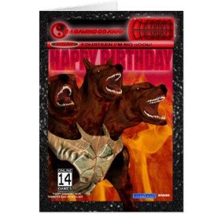 Computer Game Fan Birthday Card Modern