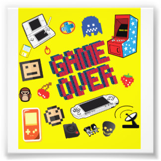 Computer Gamer Game Over Photo Print