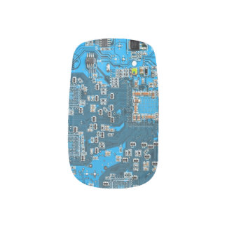 Computer Geek Circuit Board - blue Minx Nail Art