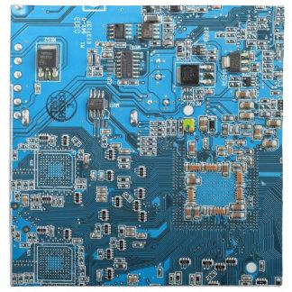 Computer Geek Circuit Board - blue Napkin