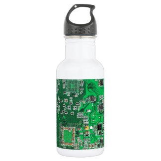 Computer Geek Circuit Board - green 532 Ml Water Bottle