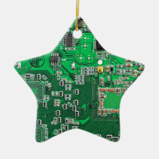 Computer Geek Circuit Board - green Christmas Ornament