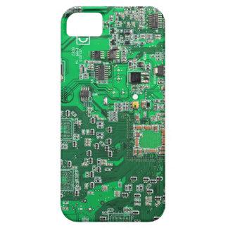 Computer Geek Circuit Board - green iPhone 5 Cover
