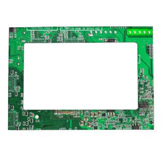 Computer Geek Circuit Board - green Magnetic Frames