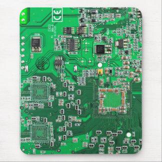 Computer Geek Circuit Board - green Mouse Mat