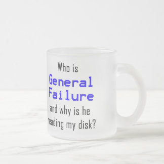 Computer geek funny frosted glass mug