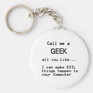 Computer Geek Key Ring