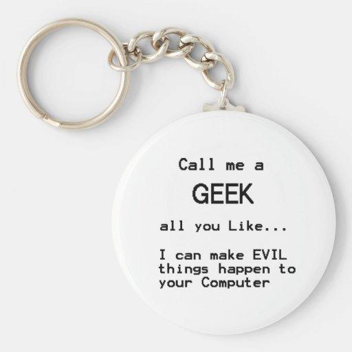 Computer Geek Keychains