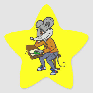 Computer Geek Mouse Stickers