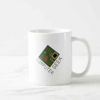 Computer Geek Basic White Mug