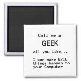 Computer Geek Square Magnet